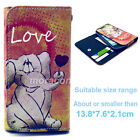 Universal Wallet Flip PU Leather Purse Button Painting Case Cover For LG +Stylus