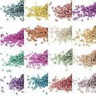 1,000 Little Metallic Galvanized Miyuki Delica 11/0 Round Shiny Glass Seed Beads