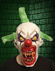 Latex Scary Evil Clown & Wolf Mask - 5 Types - Halloween Fancy Dress Costume