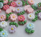 40/160pcs Resin Mini Flower Flatback Buttons DIY Scrapbooking Appliques JCN039