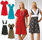 Sew & Make Simplicity 3875 SEWING PATTERN - Womens Easy PULLOVER BOHO DRESSES