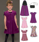 Sew & Make Simplicity 6451 New Look SEWING PATTERN - Girls CAPE PARTY DRESSES