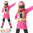 Pink Power Ranger + Mask Girls Fancy Dress Super Megaforce Childs Costume Outfit