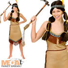 Native Indian Ladies Pocahontas Fancy Dress Womens Western Adults Costume Outfit