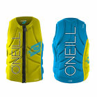 2015 O'Neill Slasher Mens Zip Padded Impact Vest Yellow Sky Blue  ,Wake, Kite