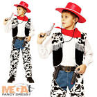 Wild West Cowboy + Hat Boys Fancy Dress Western Rodeo Kids Child Costume Outfit