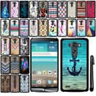For LG G3 D850 D851 LS990 VS985 SLIM FIT PATTERN HARD Case Back Cover + Pen