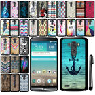 For LG G3 D850 D851 LS990 VS985 D855 SLIM FIT PATTERN HARD Case Back Cover + Pen