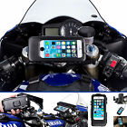 Motorcycle Fork Stem Centre Yoke Bike Mount + Waterproof Case for iPhone 6 4.7