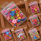 Wooden Beads Necklace Bracelet Kids Bubblegum Creative Educational DIY Crafts