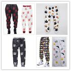 Cool Fantastic Casual Style Print Harem Pants EMOJI Casual Sweatpants Trousers A