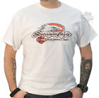 Harley-Davidson Mens Distressed Screamin Eagle w/ B&S Pocket White T-Shirt