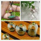 Glass Cylinder Covers Clear Cork Vials Wishing Bottles DIY Necklace Pendant HOT