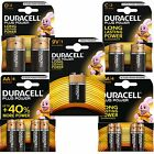 DURACELL PLUS AA AAA 9V C D ALKALINE BATTERIES DURALOCK RETAIL PACKS