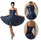 Hand Shining sequins Prom Graduation Homecoming Cocktail Short Party Gowns Dress