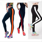 Women Cotton PU leather Fitness Leggings Gym Yoga Sports Running Pants Size L