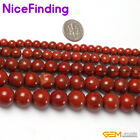 "Natural Red Jasper Stone Round Beads For Jewelry Making Gemstone 15""DIY 2mm-16mm"