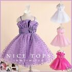 PU1688 Purples Princess Wedding Dance Party Flower Girls Dresses SZ AGE 1 to 12Y