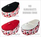 NEW Baby Kids Portable Bean Bag Seat - RED BUBBLEBURSTS - ACCC approved