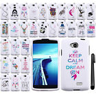 For LG Tribute LS660 Art Design PATTERN HARD Case Phone Cover + Pen