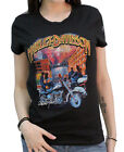 Harley-Davidson Ladies Scott Jacobs Fireworks and Black Short Sleeve T-Shirt