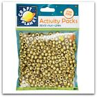 Craft Planet 80G Pony Beads Jewellery Beads 6 x 9mm  Choose Gold Or Silver