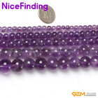 Light Amethyst Natural Stone Round Jewelry Making Loose Beads Gemstone 15""