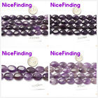Amethyst Natural Stone Oval Smooth Jewelry Making Loose Beads Gemstone 15""