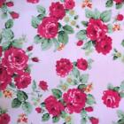 ROSES - 100% COTTON vintage FLORAL FABRIC MATERIAL by the metre