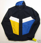 Nautica Men's Navy Blue Color Block Bomber Polyester Jacket