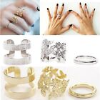 Fashion Women's Alloy Gold Silver Plated Leaf Above Knuckle Finger Ring 3pcs/Set