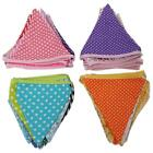 Colorful Home & Wedding & Party Handmade Triangle Flag Bunting Banner Decor - LD