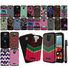 For Alcatel One Touch Fierce 2 7040T Dual Layer HYBRID HARD Case Cover + Pen
