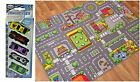 Kids City's Roads Play Mat With Toy Cars Boys Colourful Children's Bedroom Rugs