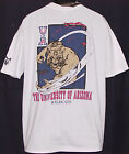 Vintage 1994 U of ARIZONA WILDCATS Menace to the Game 2-Side T-Shirt NCAA NWT