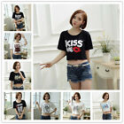 HIP HOP Women Girl Belly Short Sleeve Bare-midriff Crop Top Tee Short T-Shirt