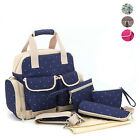 Outdoor Multi Function Diaper Baby Nappy Bags Large Mummy HandBag Tote Backpack