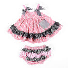 Baby Girls two-piece outfits skirt + underpants cover diaper set  Cotton dresses