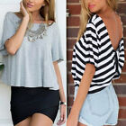 Summer Sexy Womens Short Sleeve Loose T Shirt Casual Tops Blouse
