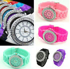 New Fashion Womens Bling Crystal Silicone Bracelet Ladies Gift Wrist Watch