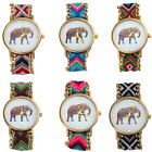 Women Watch Fashion Handmade Braided Elephant Watch Bracelet Dial Quarzt Watch
