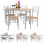 FLORIDA 5 PIECE DINING TABLE AND 4 CHAIR SET. BREAKFAST, KITCHEN, WOODEN, METAL