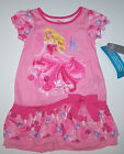 Nwt New Disney Princess Sleeping Beauty Nightgown Pajamas PInk Flower Birds Girl