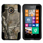 For Nokia Lumia 635 / 630 Stand Shell Hard Case Soft Hybrid Camo Hybrid Gel