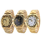 Luxury Analog Watch Womens Gold Classic Stainless Steel Wrist Watch New Arrival