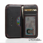 For Apple iPhone 5 5s Genuine Leather Card Wallet Pouch Case by PDair