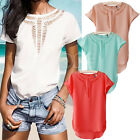 New Casual Chiffon Blouse Women's Short Sleeve Shirt T-shirt Summer Blouse Tops
