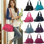 Women Handbag Pretty Nylon Inclined Shoulder Crossbody Zip Bag Tote Candy Color