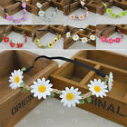 Boho Style Beach Girl Sun Flower Garland Wedding Bridal Floral Hairband Headband