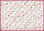 Textile Arts & Film FAVORITE THINGS HUGS & KISSES Cotton Quilting Fabric 100""